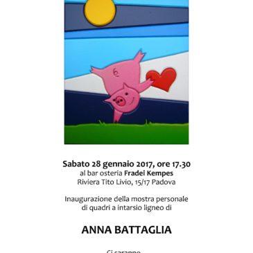 Mostra presso il bar-osteria Fradei Kempes in Riviera Tito Livio a Padova